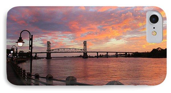 Cape Fear Bridge IPhone Case by Cynthia Guinn