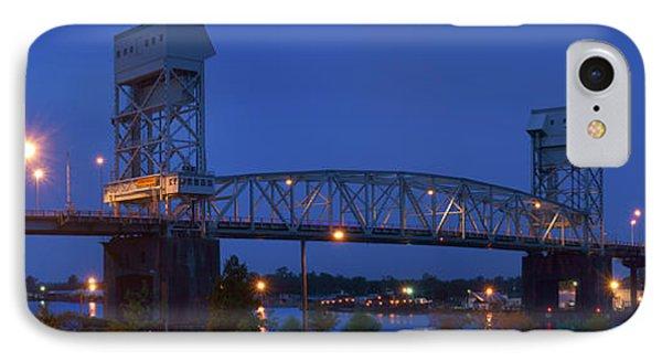 Cape Fear Memorial Bridge - Wilmington North Carolina IPhone Case by Mike McGlothlen
