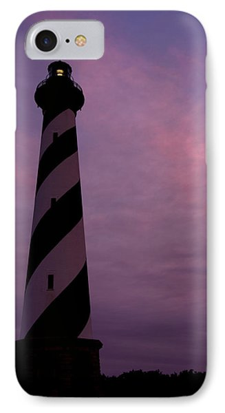 Cape Hatteras Lighthouse At Dusk Phone Case by Jim Baker