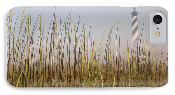 Cape Hatteras Lighthouse In The Fog IPhone Case by Tony Cooper