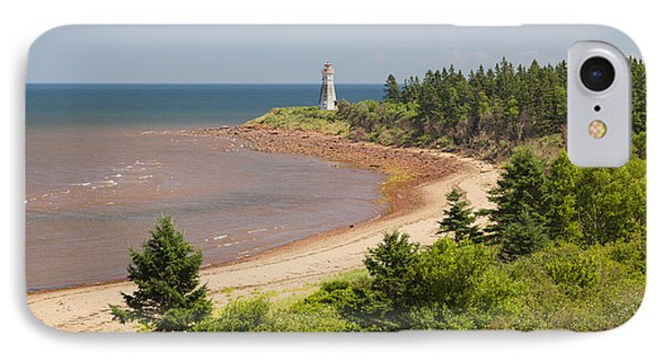 Cape Jourimain Lighthouse In New Brunswick IPhone Case by Elena Elisseeva