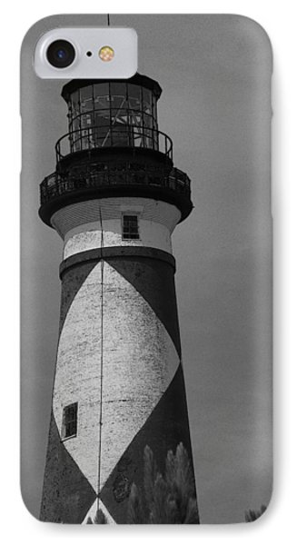 Cape Lookout Light Black And White 2  IPhone Case by Cathy Lindsey