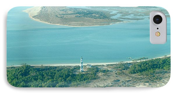 Cape Lookout Lighthouse From The Air IPhone Case by Dan Williams