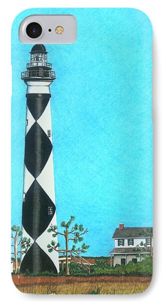 Cape Lookout Lighthouse IPhone Case by Karen Rhodes