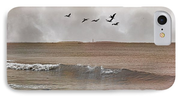 Cape Lookout Pelicans IPhone Case