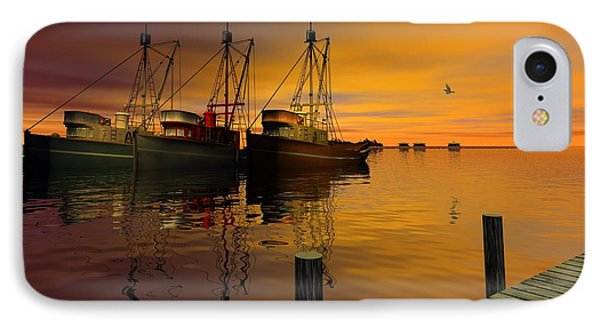 Cape May Fishing Boats IPhone Case by John Pangia