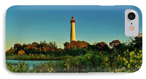 Cape May Lighthouse Above The Flowers IPhone Case
