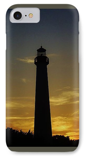 IPhone Case featuring the photograph Cape May Lighthouse At Sunset by Ed Sweeney