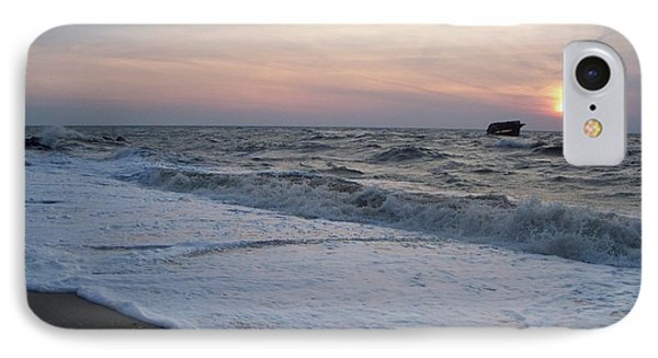 Cape May Sunset Beach Nj IPhone Case by Eric  Schiabor