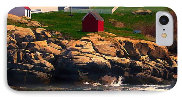 Cape Neddick Lighthouse Maine  At Sunset  Phone Case by Elaine Plesser