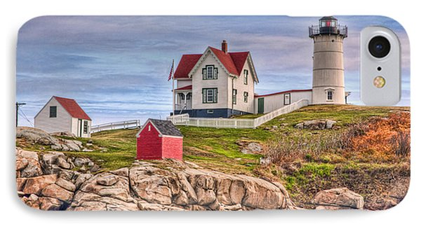 Cape Neddick Nubble Lighthouse II Phone Case by Clarence Holmes