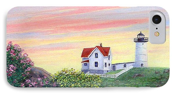 Cape Neddick Sunrise Phone Case by Fran Brooks