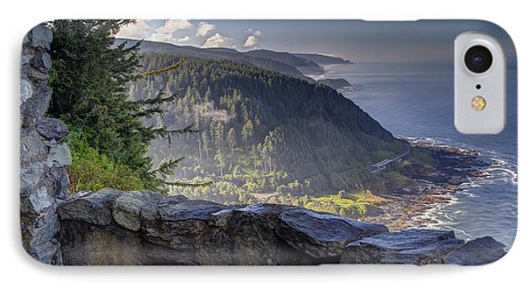 Cape Perpetua Lookout IPhone Case by Mark Kiver