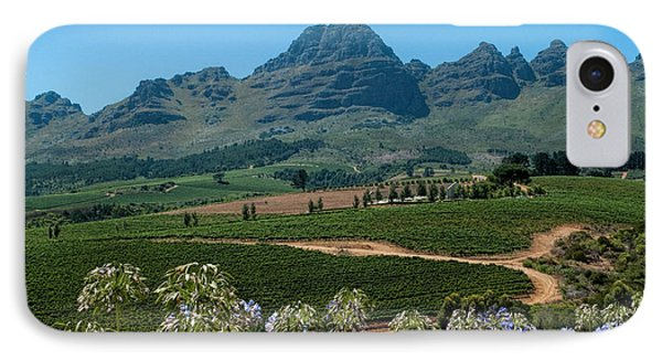 Cape Winelands - South Africa IPhone Case by Photos By Pharos