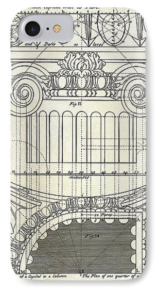 Capital Drawing IPhone Case by Jon Neidert