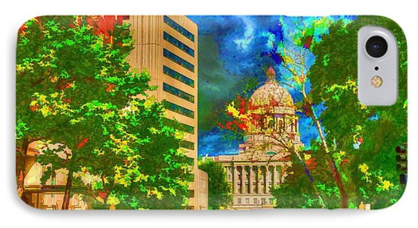Capital - Jefferson City Missouri - Painting IPhone Case