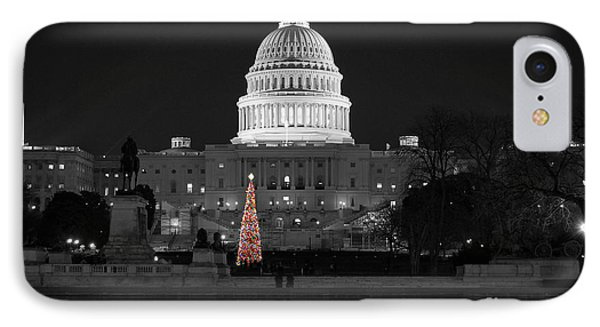 IPhone Case featuring the photograph Capitol Christmas by Shawn O'Brien