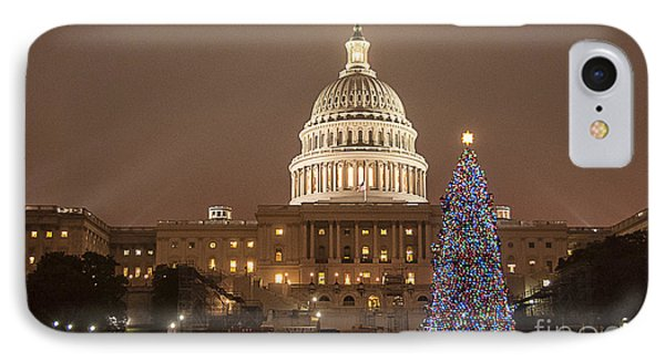 Capitol Christmas IPhone Case by Terry Rowe
