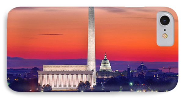 Capitol Dawn IPhone Case by Mitch Cat