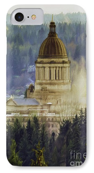 Capitol Mist IPhone Case by Jean OKeeffe Macro Abundance Art