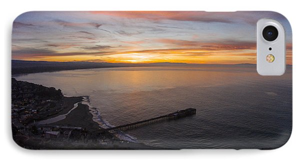 Capitola Wharf Sunrise IPhone Case by David Levy