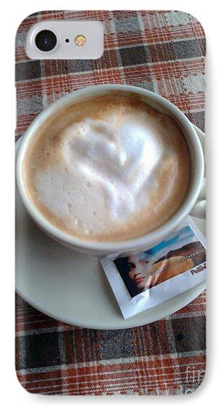 Cappuccino Love Phone Case by Ausra Huntington nee Paulauskaite