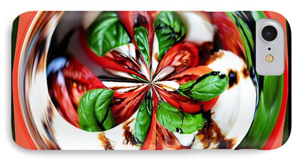 IPhone Case featuring the photograph Caprese Salad Orb by Paula Ayers
