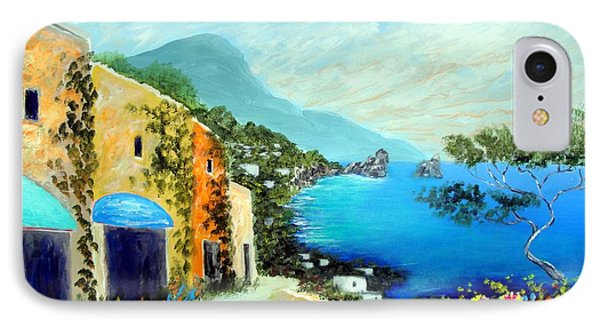 IPhone Case featuring the painting Capri Fantasies by Larry Cirigliano