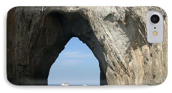 Capri Ocean Cave  IPhone Case by Ted Pollard