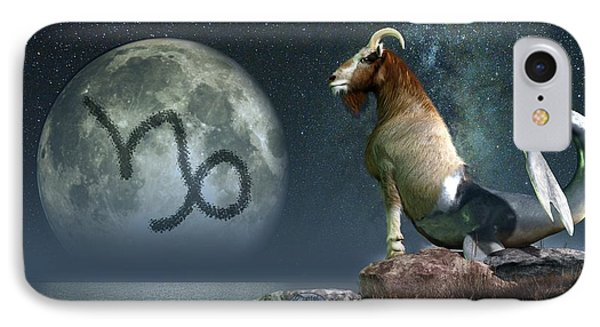 Capricorn Zodiac Symbol IPhone Case by Daniel Eskridge