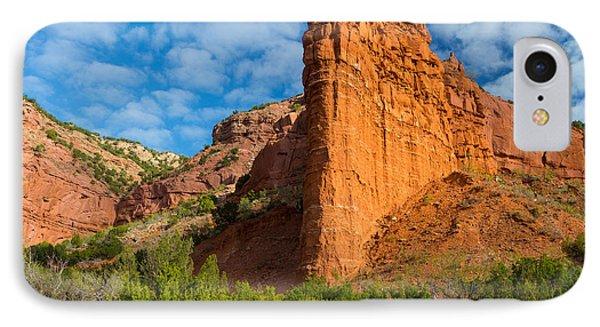 Caprock Canyon Rim IPhone Case by Inge Johnsson