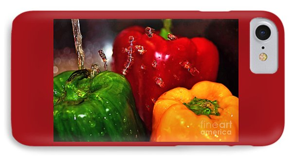 Capsicum In The Wash Phone Case by Kaye Menner