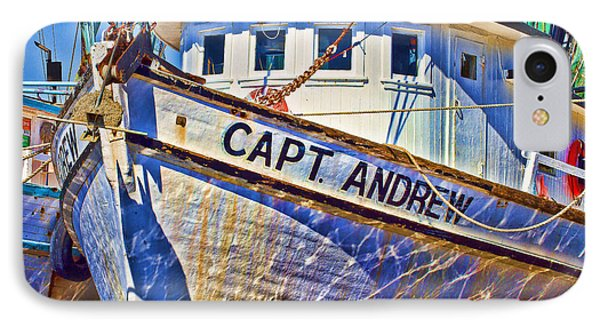 Capt Andrew Shrimper IPhone Case by Bill Barber