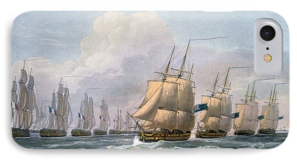 Hms Theseus IPhone Case by Frederick Christian Lewis