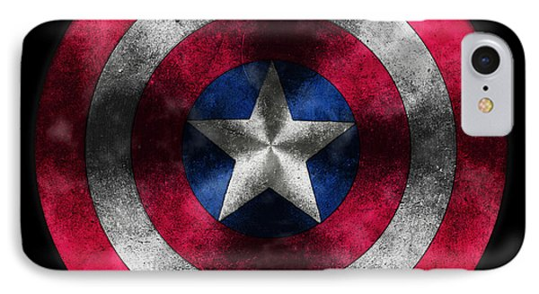 Captain America Shield IPhone Case by Georgeta Blanaru