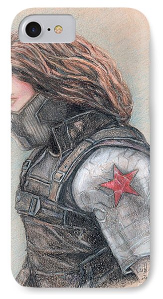 Captain America Winter Soldier IPhone Case