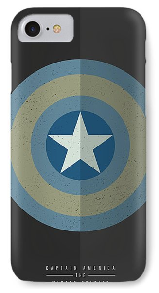 Captain America Winter Soldier IPhone Case by Mike Taylor