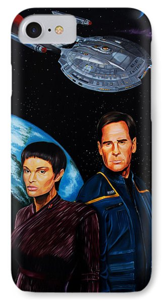 Captain Archer And T Pol Phone Case by Robert Steen