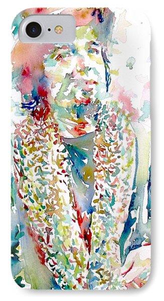 Captain Beefheart Watercolor Portrait.2 Phone Case by Fabrizio Cassetta