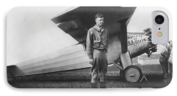 Captain Charles Lindbergh Phone Case by Underwood Archives