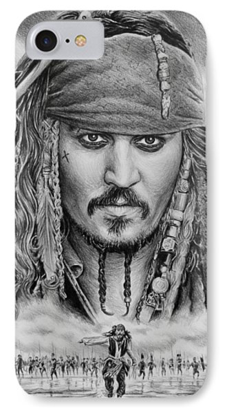 Captain Jack Sparrow Phone Case by Andrew Read