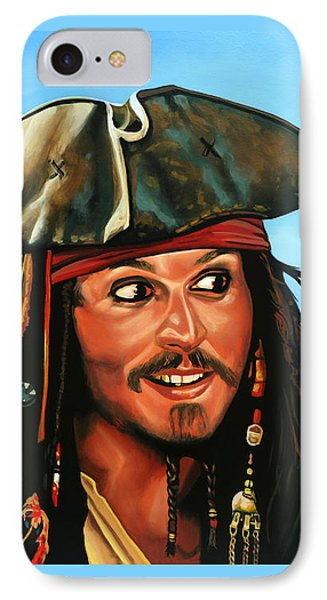 Captain Jack Sparrow Painting IPhone Case