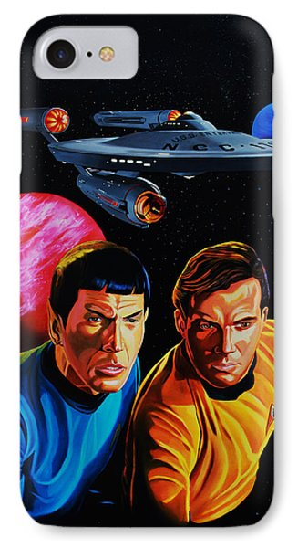 Captain Kirk And Mr. Spock Phone Case by Robert Steen