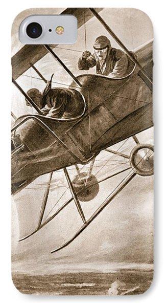 Captain Liddell Piloting His Aeroplane IPhone Case