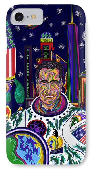 Captain Mitt Romney - American Dream Warrior IPhone Case by Robert SORENSEN