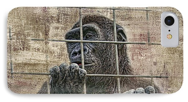 Ape iPhone 7 Case - Captivity by Tom Mc Nemar