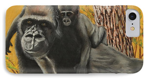 IPhone Case featuring the painting Captured Bernigie by Jeanne Fischer