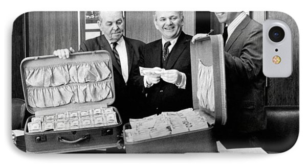 Captured Counterfeit Money IPhone Case