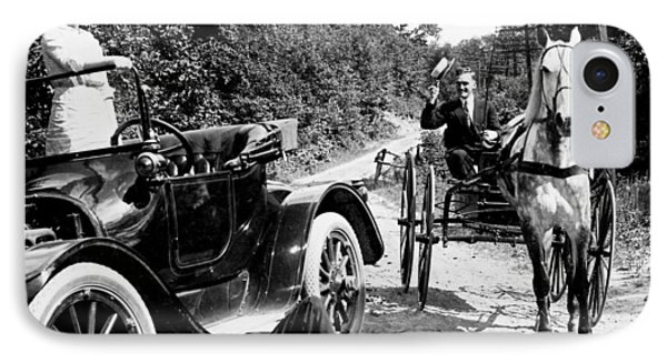 Car And Carriage, 1914 IPhone Case by Granger