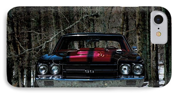 Car Art Chevy Chevelle Ss Hdr IPhone Case by Lesa Fine